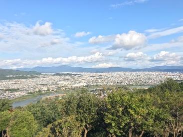 La vue en haut la colline
